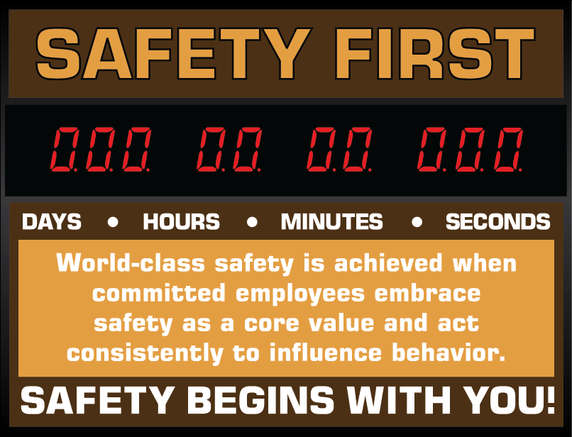 Safety Count-Up sign