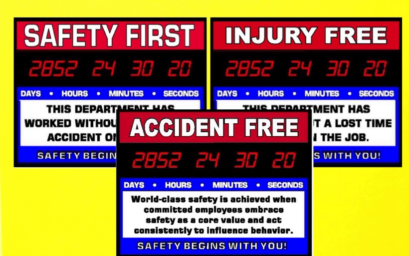 Safety First, Injury Free & Accident Free | Countdown Today Inc.